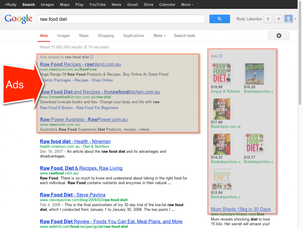 Raw Food Diet Google Results